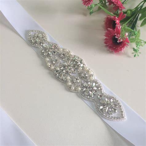 beaded applique trim rhinestone applique bridal accessories trim