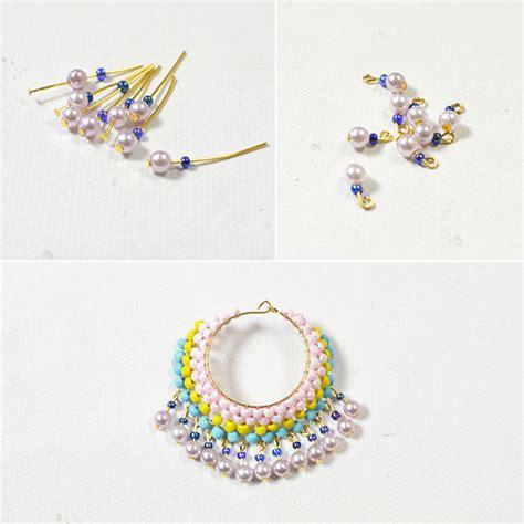 diy beaded hoop earrings diy hoop earrings with seed pearl carol s
