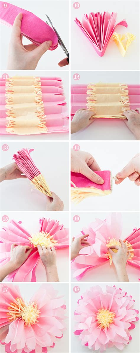 diy paper flower crafts diy how to make tissue paper flowers for