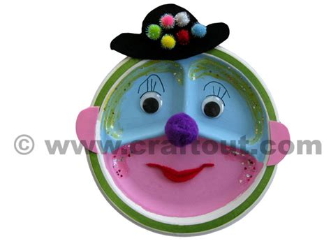 paper plate clown craft clown craft out