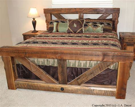 make king bed frame best 25 rustic bed frames ideas on diy bed
