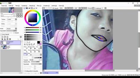 paint tool sai mega identi como transforma sua foto ne um desenho pelo paint tool sai
