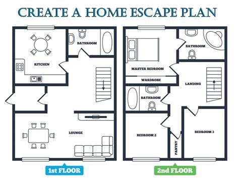 how to make a house plan escape plan emc security