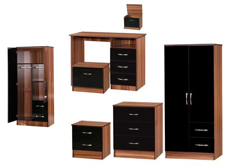walnut and black bedroom furniture walnut and black gloss bedroom furniture pics