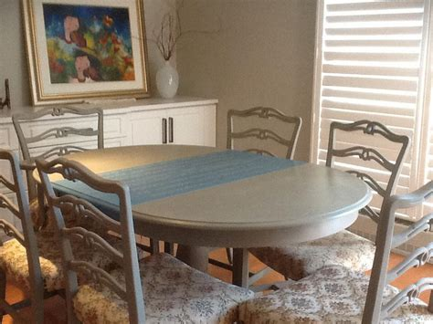 chalk paint qualicum dining room set painted with sloan chalk paint