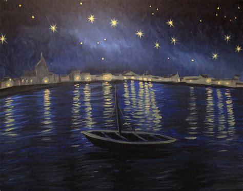 paint nite pass starry the rhone paint nite event