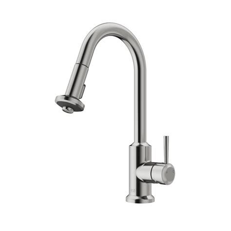 vigo kitchen faucet vigo single handle pull out sprayer kitchen faucet in stainless steel vg02012st the home depot