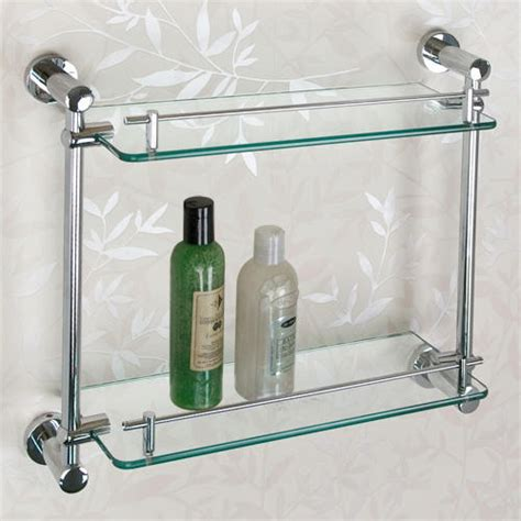 glass shelving bathroom ceeley tempered glass shelf two shelves bathroom
