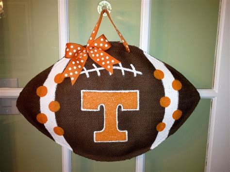 football craft projects of tennessee football burlap door hanger