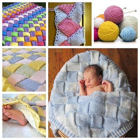how to knit a blanket for a baby diy cozy entrelac knit baby blanket