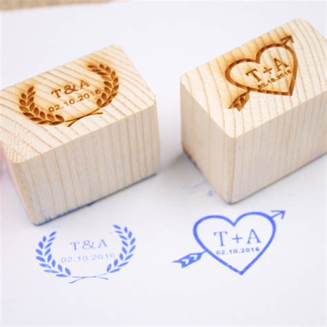 custom wood rubber sts personalized wedding st custom wood rubber st
