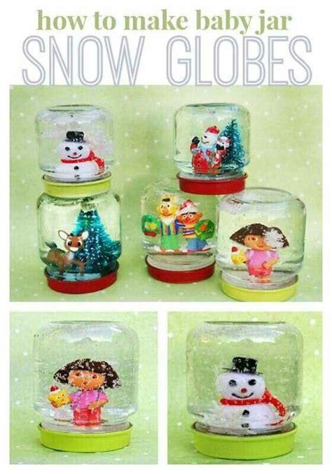 baby food jar crafts for baby food jar snow globe craft