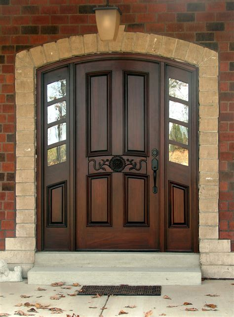 wood exterior front doors top doors arched top doors radius doors for sale