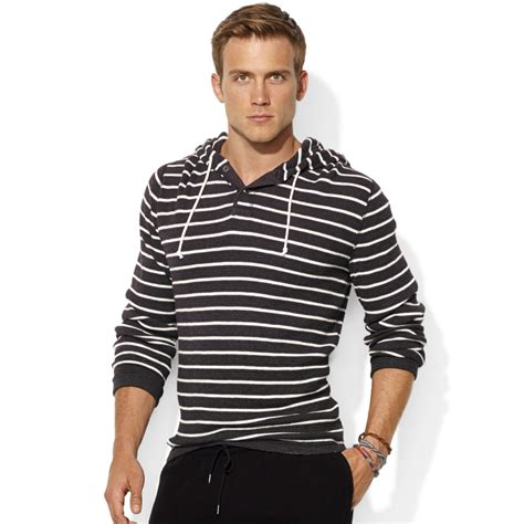 ralph waffle knit hoodie ralph striped waffle knit cotton hoodie in