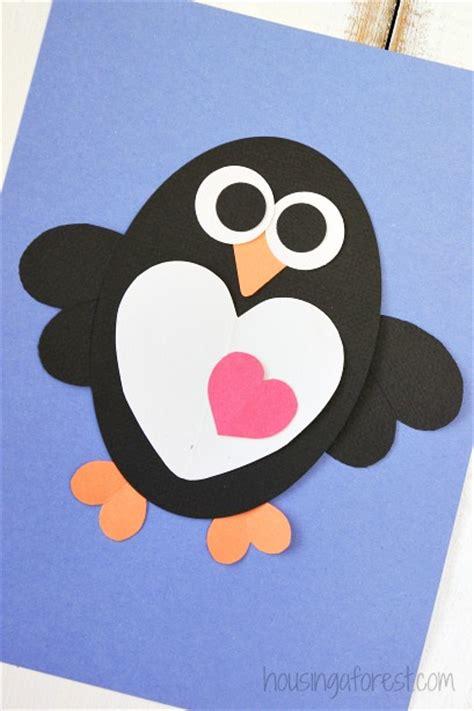 penguin crafts penguin crafts hearts