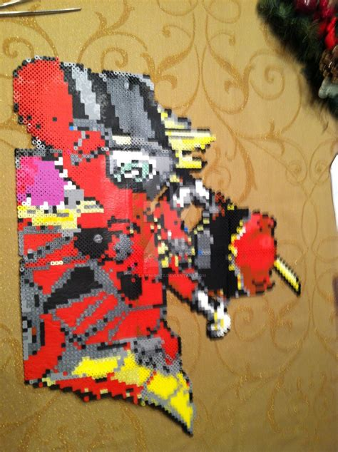what is the charge on the bead ranger dino charge perler bead by flairnightz on