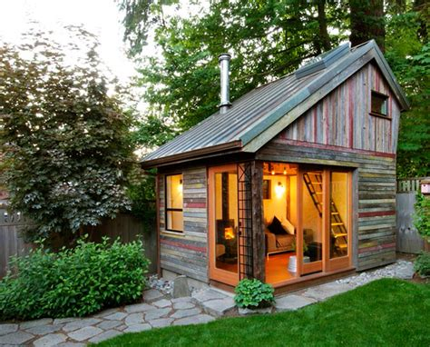 back yard house rustic and beautiful backyard micro house is built from