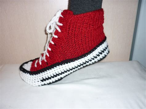 knitted sneakers pattern converse slippers crochet converse slippers crochet