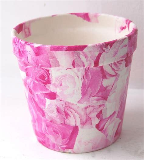 decoupage flower pots rev flower pots plant pots terracotta pots using