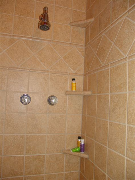 shower tile shelves ceramic shower shelves shower shelves brown ceramic tile