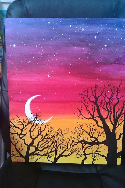 easy acrylic painting ideas trees acrylic painting ideas easy natashainanutshell