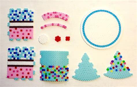perler 3d ideas 3d perler bead cake pixel shop