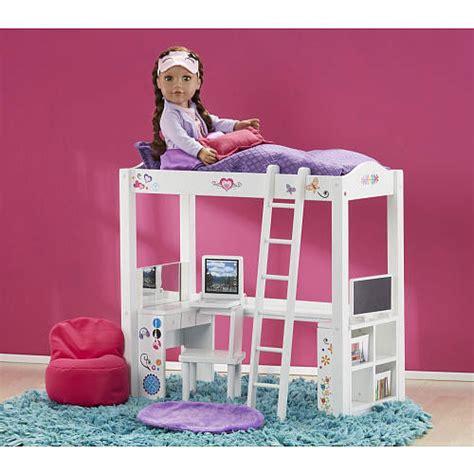 18 inch doll desk doll furniture loft bed desk set made to fit american