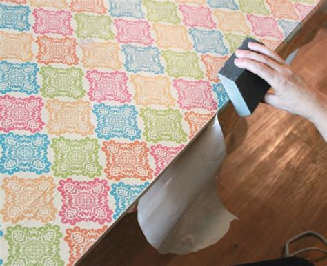 wrapping paper decoupage furniture how to decoupage furniture with modge podge tutorial