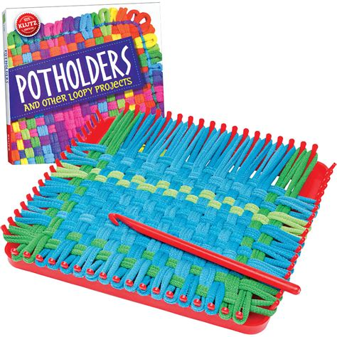 New Potholders Kit Retro Loop Craft Project Includes