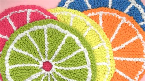 learn to knit sydney how to knit fruit citrus slices us224