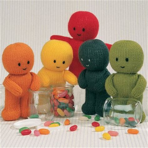 knitted jelly babies jean greenhowe designs gift dolls
