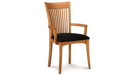 dining room chair with arms lacquered oak wood dining chair with black tone padded
