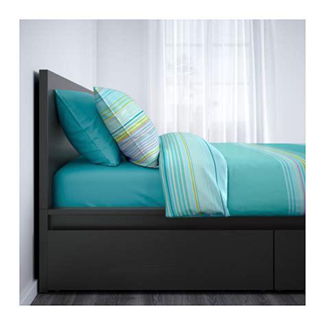 ikea bed frame storage malm high bed frame 4 storage boxes ikea
