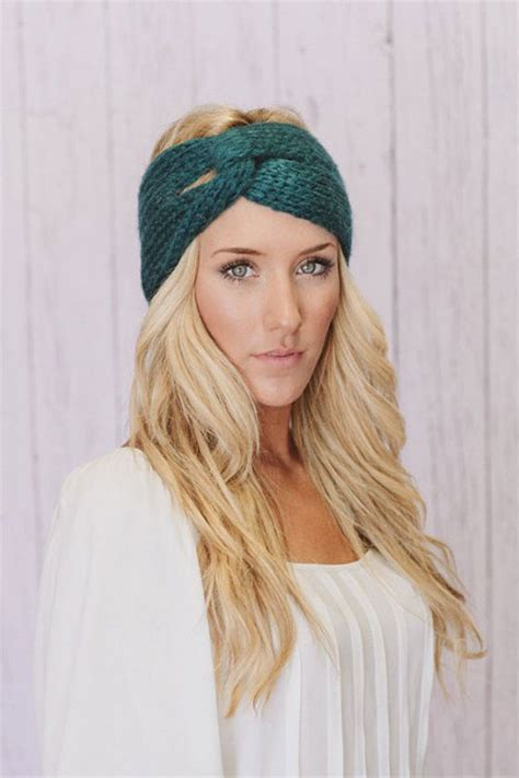 knit headband in the winter headbands with bow crochet knitting patterns for