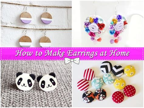 make jewelry at home how to make earrings at home