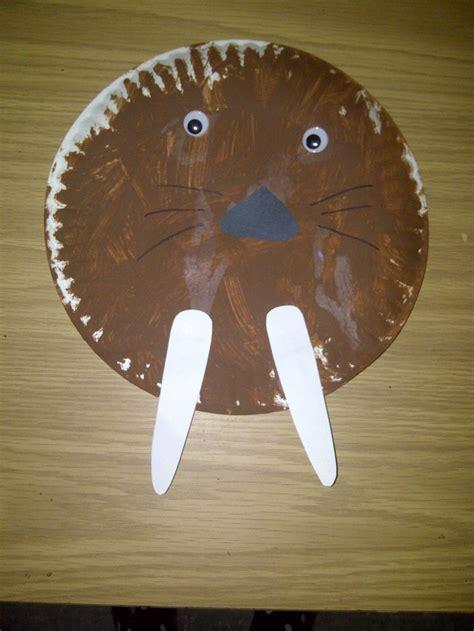 arctic crafts for paper plate walrus preschool crafts paper
