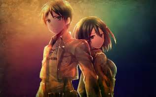 attack on titan eren and mikasa mikasa and eren attack on titan wallpaper