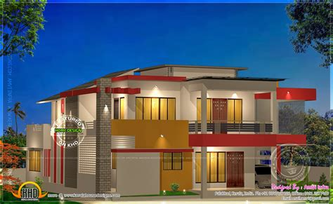 modern home house plans modern 4 bhk house plan in 2800 sq kerala home design and floor plans
