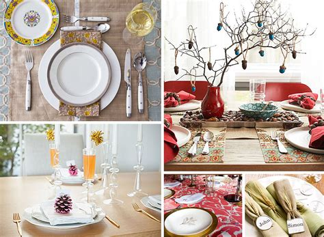 decoration ideas for table settings 12 stylish thanksgiving table setting ideas