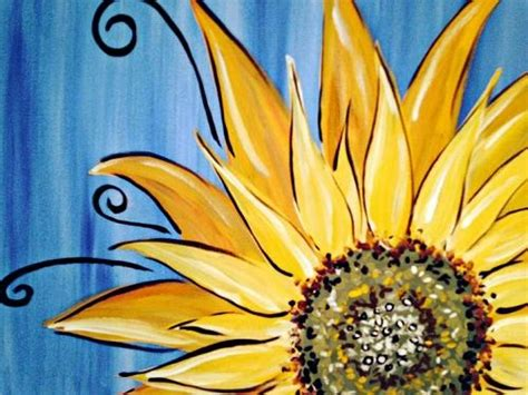 paint nite quaker steak and lube 1000 ideas about sunflower canvas paintings on