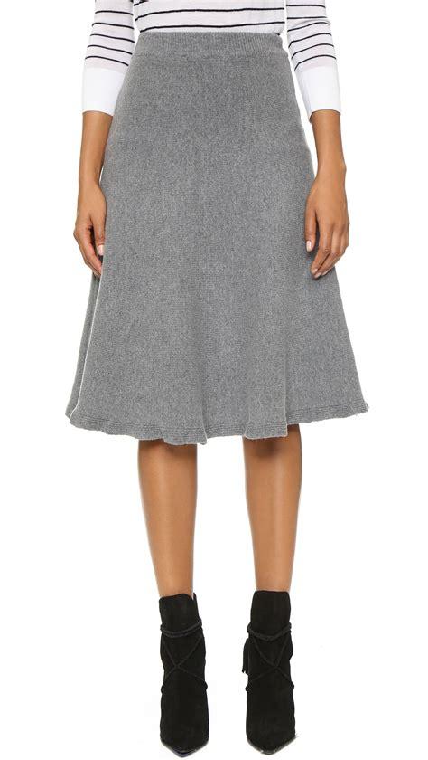 knit skirts joa knit skirt in gray grey lyst