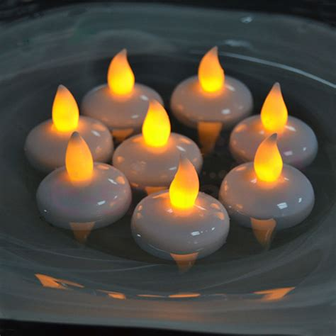 water and floating candles 12 pcs water sensor led flickering flameless floating