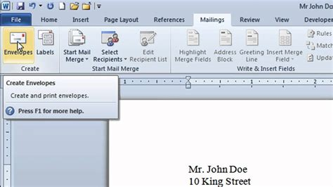 how to create microsoft word envelope how to create