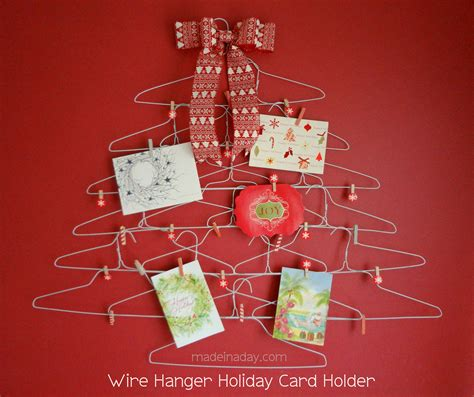 how to make card holder wire hanger card holder made in a day