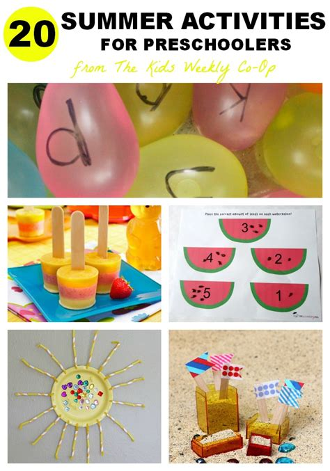 summer craft projects for preschoolers summer activities for mess for less