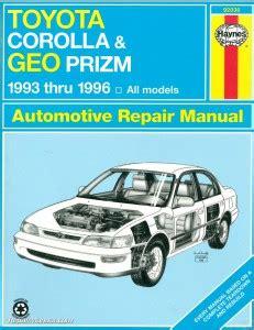 what is the best auto repair manual 1993 dodge ram van b250 seat position control haynes toyota corolla geo chevrolet prism 1993 1996 auto repair manual