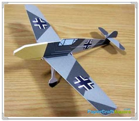 paper airplane craft messerschmitt bf109 paper airplane