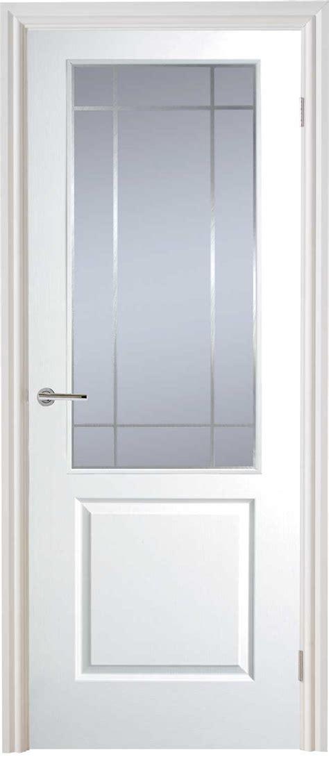 white interior door with glass half light manhattan smooth moulded white door