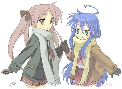 lucky yuri lucky kagami and konata incentive look preppy