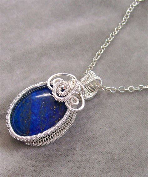 how to make bezel jewelry lapis lazuli and silver woven bezel pendant jewelry by
